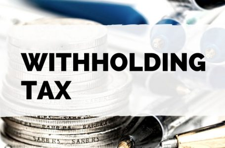 Changes in rates of withholding tax on sales to retailers, wholesalers, distributors