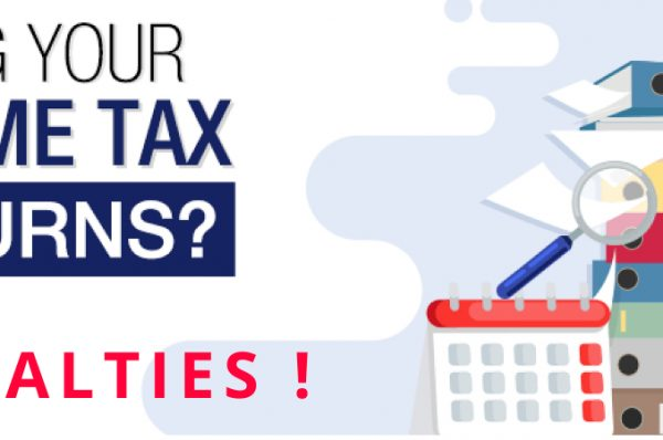 Penalty for non-filing income tax returns, wealth statement, foreign assets/income statement & active status