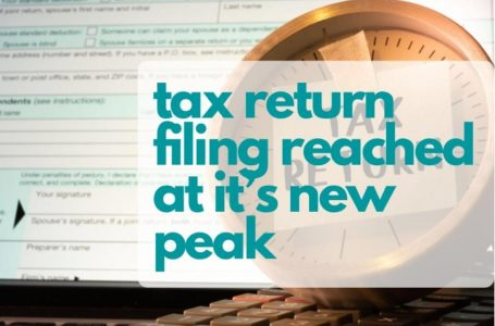Income Tax Returns Filing Reached at Top