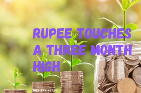 The rupee touches a three-month high