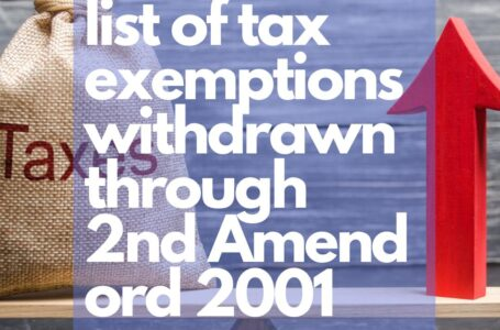 List of exemptions from total income withdrawn through Second Amendment Ordinance
