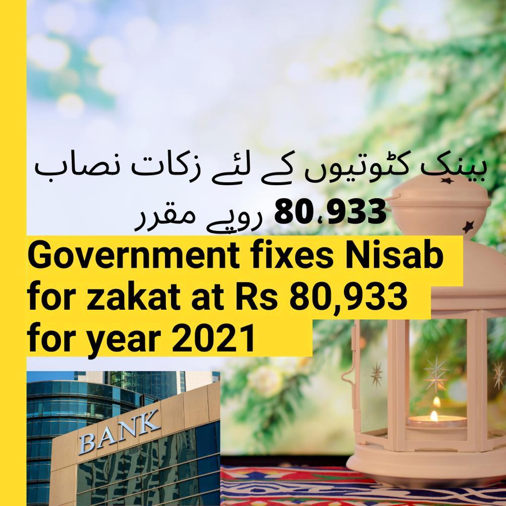Zakat Nasab fixed Rs80933 bank deductions