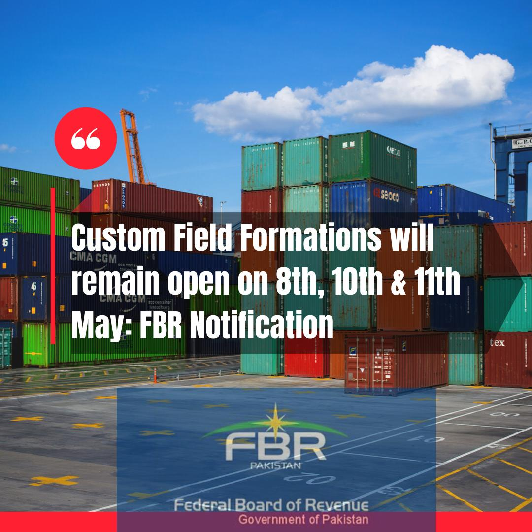 Custom Field Formations Open on Eid Holidays 2021