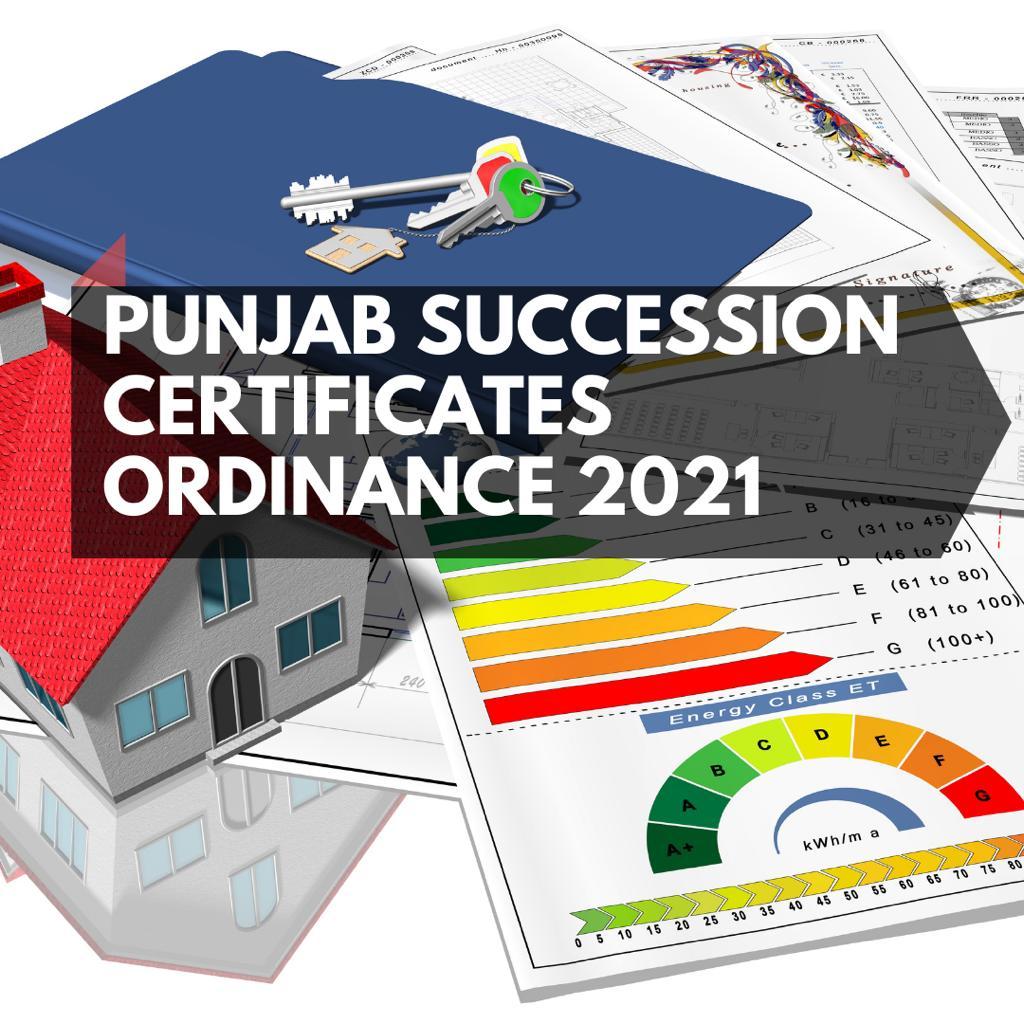 Punjab Succession Certificates Ordinance 2021
