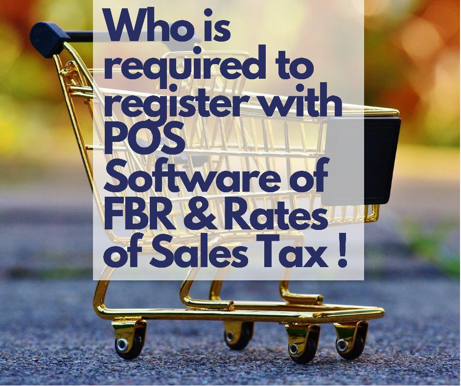 Registration of Tier1 Retailers with Point of Sale Software of FBR