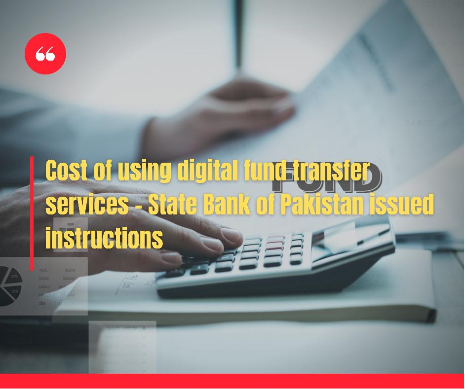 Cost of digital fund transfers state bank issues instructions