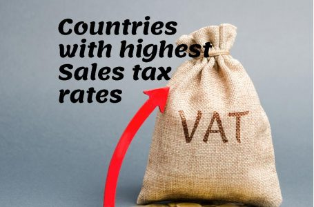 Countries with the highest sales tax rate on retailers