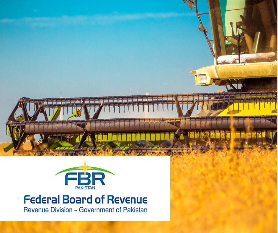 FBR collaboration with provinces regarding tax base increase of agriculture income tax
