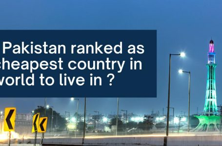 Why Pakistan ranked as the cheapest country in the world to live in ?