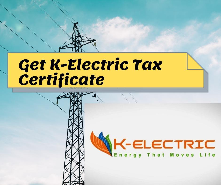 K Electric Tax Certificate 2021