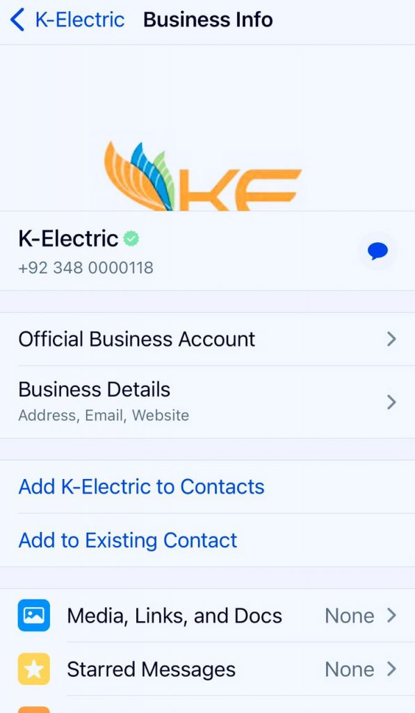 K Electric WhatsApp Number for Tax Deduction Certificate