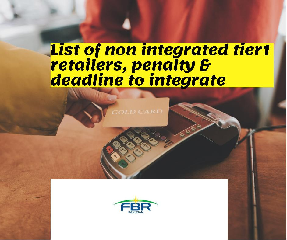 List of non integrated tier1 retailers deadline and penalty for nonintegration