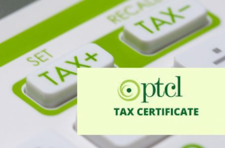 PTCL Withholding Tax Certificate download online