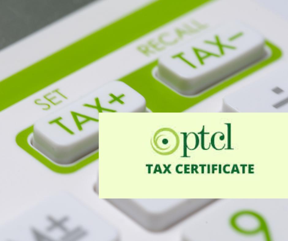 PTCL tax certificate