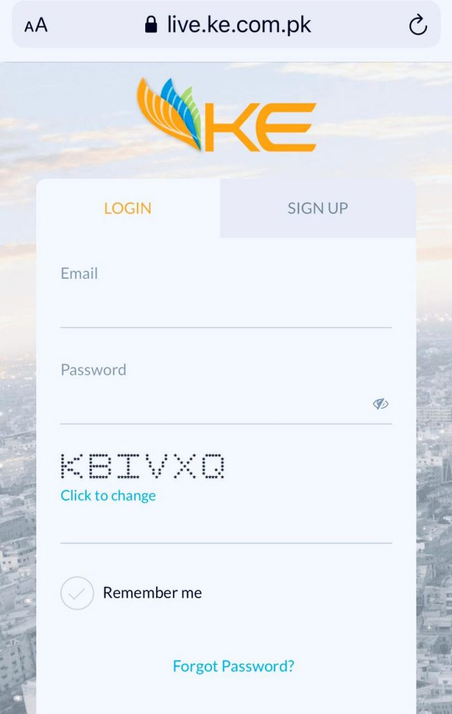 k Electric Live App to download tax certificate of k electric