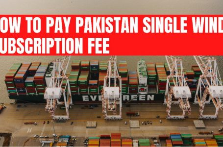 How to pay subscription fee of Pakistan Single window