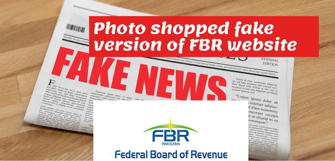 Photo shopped fake version of FBR Website