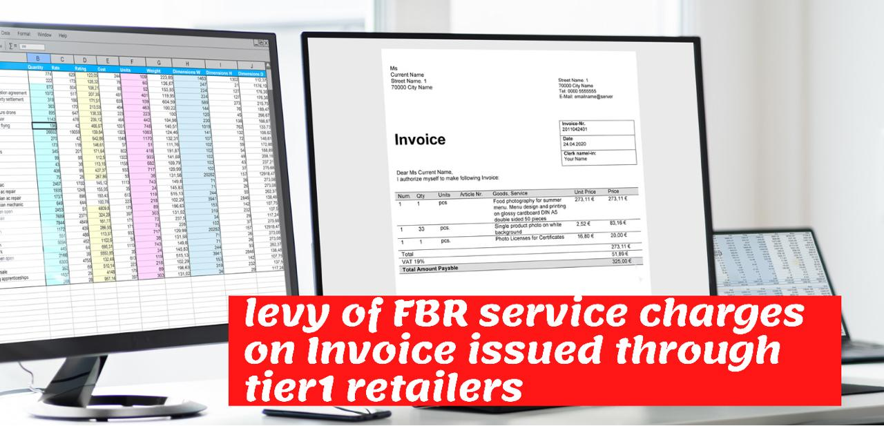 Service charges on invoice issued by tier1 retailers
